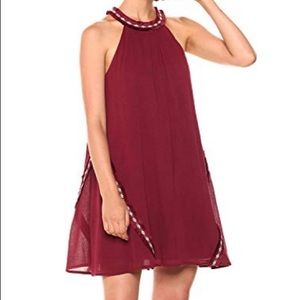 Maroon Anthropologie dress size large